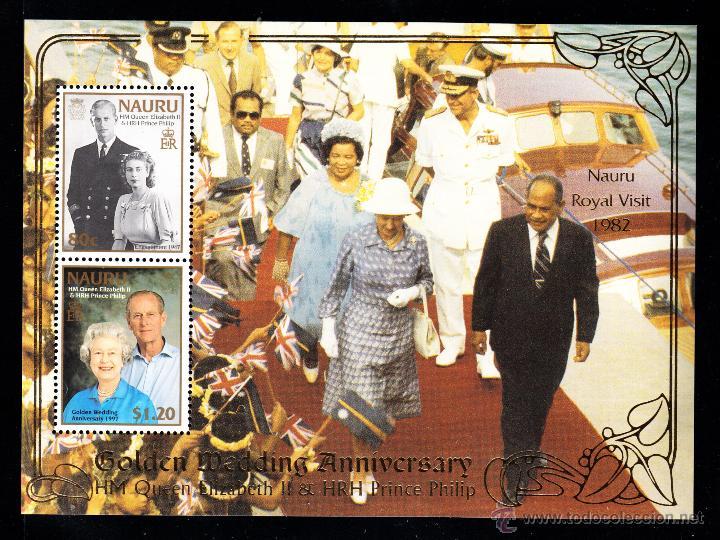 NAURU HB 18** - AÑO 1997 - 50º ANIVERSARIO DE LA BODA DE LA REINA ISABEL II (Sellos - Extranjero - Oceanía - Otros paises)