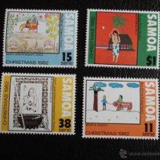 Stamps - Samoa. 521/24 Navidad: Dibujos infantiles**. 1982. Sellos nuevos y numeración Yvert - 48839802