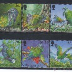 Sellos: ISLA SOLOMON SALOMON 1993 WWF SERIE COMPLETA NUEVO LUJO VER DETALLE FAUNA AVES MNH ***. Lote 49752107