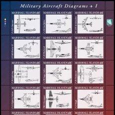 Stamps - Marshall Islands 2014 - Military Aircraft Diagrams I souvenir sheet mnh - 53241639