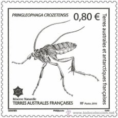 Briefmarken - TAAF 2016 - hInsecte de Crozet mnh - 53640931