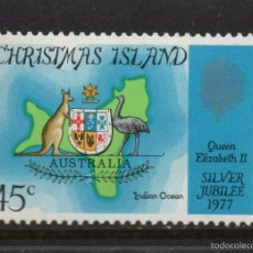 Sellos: CHRISTMAS 73** - AÑO 1977 - 25º ANIVERSARIO DE LA ASCENSION AL TRONO DE LA REINA ISABEL II. Lote 179338822