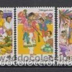 Sellos: COCOS 1984 IVERT 110/2 *** CULTURA MALAYA EN LAS ISLAS COCOS (I). Lote 56256770