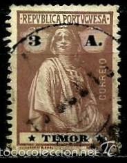 TIMOR [COLONIA PORTUGUESA] 1914- YV 167(A) AFI 165 (D-15) USADO (Sellos - Extranjero - Oceanía - Otros paises)