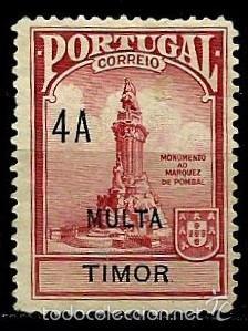 TIMOR [COLONIA PORTUGUESA] 1925- YV T33 AFI IPP3 (TAXA) *SIN/GOMA (Sellos - Extranjero - Oceanía - Otros paises)