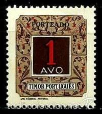 TIMOR [COLONIA PORTUGUESA] 1952- YV T34 AFI P31 (TAXA) **CON/CH (Sellos - Extranjero - Oceanía - Otros paises)