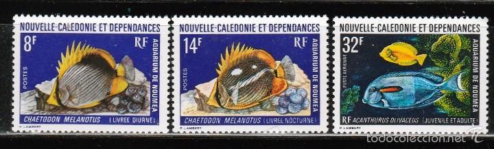 NUEVA CALEDONIA Y DEPENDENCIAS . 1973 (16-392) SERIE: PECES. **.MNH (Sellos - Extranjero - Oceanía - Otros paises)