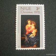 Timbres: NIUE 1972 IVERT 141 *** NAVIDAD - LA VIRGEN Y EL NIÑO DE MURILLO. Lote 57346205