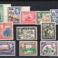 Sellos: COLONIAS BRITANICAS=FIJI=YVERT 104/14=AÑO 1938=CATALOGO:160 EUROS=REF:1057. Lote 58131007
