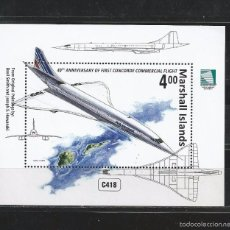 Stamps - Marshall Islands 2016 - Concorde First Flight souvenir sheet mnh - 58371649