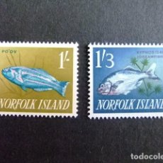 Sellos: NORFOLK 1960 PECES POISSON FISHYVERT N 35 / 37 * MH SG N 45 / 46 * MH NÚMERO DE ARTÍCULO: 413566803. Lote 67763249