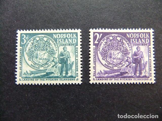 NORFOLK 1956 COLONS VENUS DE PITCAIRN YVERT Nº 19 / 20 ** MNH SG N 19 / 20 ** MNH (Sellos - Extranjero - Oceanía - Otros paises)