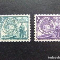 Sellos: NORFOLK 1956 COLONS VENUS DE PITCAIRN YVERT Nº 19 / 20 ** MNH SG N 19 / 20 ** MNH . Lote 67764341
