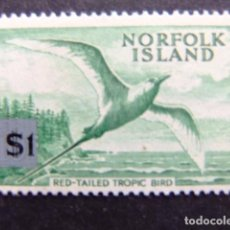 Sellos: NORFOLK 1966 PHAETON À BRINS ROUGES YVERT Nº 73 ** MNH SG N º 71 ** MNH . Lote 67774969