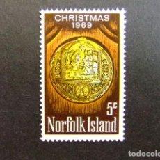 Sellos: NORFOLK 1969 NAVIDAD NOËL CHRISTMAS YVERT Nº 104 ** MNH SG N º 104 ** MNH. Lote 67777041