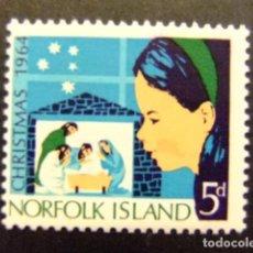Sellos: NORFOLK 1964 NAVIDAD NOËL CHRISTMAS YVERT Nº 61 * MH SG N º 59 * MH. Lote 67777533