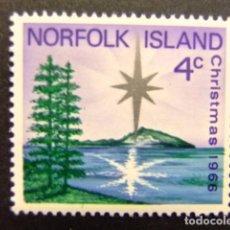 Sellos: NORFOLK 1966 NAVIDAD NOËL CHRISTMAS YVERT Nº 78 * MH SG N º 76 * MH. Lote 67778669
