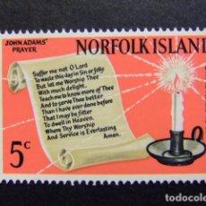 Sellos: NORFOLK 1966 NAVIDAD NOËL CHRISTMAS YVERT Nº 78 * MH SG N º 76 * MH. Lote 67778865