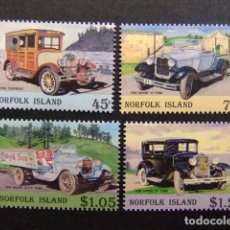 Sellos: NORFOLK 1995 HISTORIA DEL AUTOMOVIL YVERT Nº 567 / 570 ** MNH. Lote 67780305