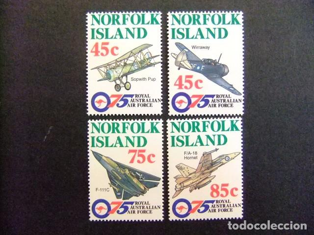 NORFOLK 1995 ROYAL AUSTRALIAN AIR FORCE ( RAAF ) YVERT Nº 597 / 600 ** MNH (Sellos - Extranjero - Oceanía - Otros paises)