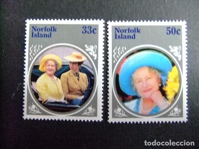 NORFOLK 1985 QUEEN MOTHER YVERT Nº 361 +362 ** MNH SG Nº 365 +366 ** MNH (Sellos - Extranjero - Oceanía - Otros paises)