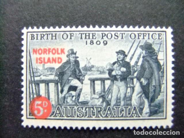 NORFOLK 1959 SERVICE POSTAL YVERT Nº 25 * MH SG N º 23 * MH (Sellos - Extranjero - Oceanía - Otros paises)