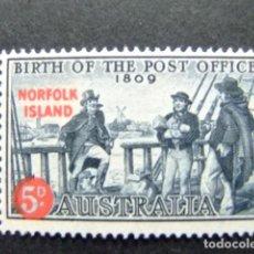 Sellos: NORFOLK 1959 SERVICE POSTAL YVERT Nº 25 * MH SG N º 23 * MH. Lote 67789897