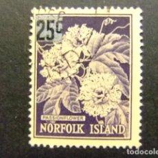 Sellos: NORFOLK 1966 FLEUR DE LA PASSION YVERT Nº 70 º FU SG N º 68 º FU. Lote 67790109