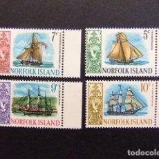 Sellos: NORFOLK 1967 SERIE COURANTE BATEAUX YVERT Nº 83 / 86 ** MNH SERIE INCOMPLETA . Lote 67790765