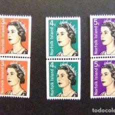 Sellos: NORFOLK 1968 ELIZABETH II EMIS ENROULEAUX YVERT Nº 95 / 97 ** MNH SERIE INCOMPLETA. Lote 67791437