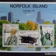 Sellos: NORFOLK 1986 EXPO À CHICAGO YVERT Nº BLOC 10 ** MNH. Lote 67803305