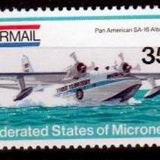 Sellos: ESTADOS FEDERADOS DE MICRONESIA. 1984. SERIE: AERONAVES ***,MNH. Lote 68838329