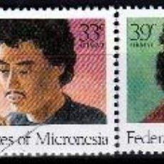 Sellos: ESTADOS FEDERADOS DE MICRONESIA. 1987. 2 SERIES : NORMAL Y AEREA ,NAVIDAD ***,MNH. Lote 68887941