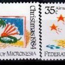 Sellos: ESTADOS FEDERADOS DE MICRONESIA. 1984. 2 SERIES : NORMAL Y AEREA . NAVIDAD ***,MNH. Lote 68888177