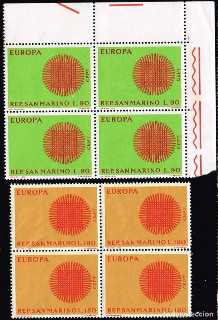 1970 SAN MARINO TEMA EUROPA MNH** (Sellos - Extranjero - Oceanía - Otros paises)