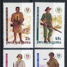 Sellos: PAPUA Y NUEVA GUINEA 1992 IVERT 659/62 *** 50º ANIVERSARIO DE LAS CAMPAÑAS DE LA 2ª GUERRA MUNDIAL. Lote 69359425
