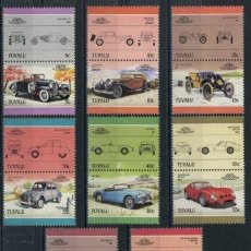 Sellos: TUVALU 1985 IVERT 339/54 *** AUTOMOVILES - 3ª SERIE - COCHES ANTIGUOS. Lote 70484329