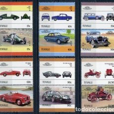 Sellos: TUVALU 1986 IVERT 404/15 *** AUTOMOVILES - 4ª SERIE - COCHES ANTIGUOS. Lote 70484561