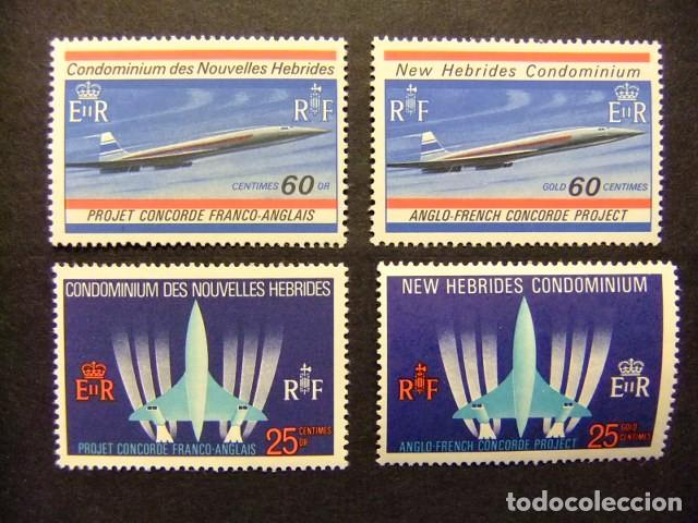 NOUVELLES HEBRIDES 1968 AVION SUPERSONIQUE FRANCO-BRITANNIQUE CONCORDE YVERT N º 276 / 79 MNH (Sellos - Extranjero - Oceanía - Otros paises)