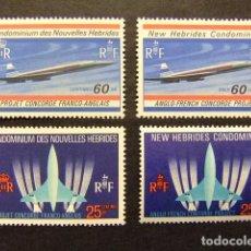Sellos: NOUVELLES HEBRIDES 1968 AVION SUPERSONIQUE FRANCO-BRITANNIQUE CONCORDE YVERT N º 276 / 79 MNH. Lote 72220451