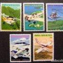 Sellos: PAPUA NEW GUINEA PAPOUASIE ET NOUVELLE-GUINÉE 1981 AVIATION DES MISSIONS YVERT N º 412 /16 ** MNH. Lote 72222607