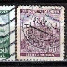 Sellos: 1939, BOHEMIA Y MORAVIA. *,MH (17-75 ). Lote 74026523