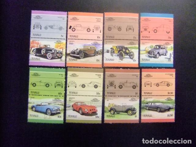 TUVALU 1985 AUTOMOVILES COCHES AUTOS YVERT &TELLIER Nº 339 / 354 ** SG Nº 356 / 371 MNH (Sellos - Extranjero - Oceanía - Otros paises)