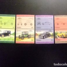 Sellos: TUVALU 1985 AUTOMOVILES COCHES AUTOS YVERT &TELLIER Nº 307 / 314 ** SG Nº 321 / 328 MNH. Lote 74362175