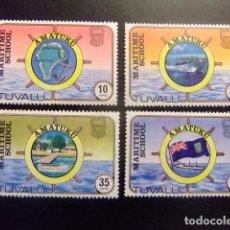 Sellos: TUVALU 1982 MARITIME SCHOOL ESCUELA NAVAL YVERT &TELLIER Nº 163 / 166 ** SG Nº 180 / 183 MNH. Lote 74362387