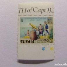 Sellos: TUVALU 1979 OBSERVATION DE VENUS CAPITAN COOK YVERT &TELLIER Nº 113 ** MNH. Lote 74362771