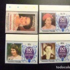 Sellos: NANUMEA TUVALU 1986 60 ANIVERSARIO REINA ELIZABETH II YVERT &TELLIER Nº SG Nº 8 MNH. Lote 74366279