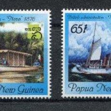 Sellos: PAPUA Y NUEVA GUINEA 1999 IVERT 817/20 *** EXPOSICIÓN FILATÉLICA INTERNACIONAL - BARCOS ANTIGUOS. Lote 74677019