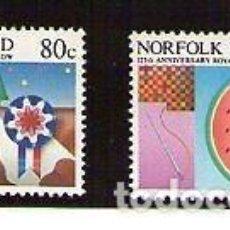 Sellos: NORFOLK 1985 IVERT 366/7 *** 125º ANIVERSARIO EXPOSICIÓN AGRICOLA Y HORTICOLA DE LA ISLA. Lote 74679159