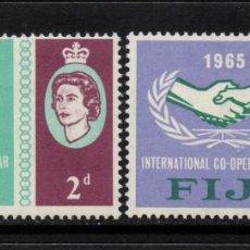 Sellos: FIJI 192/93** - AÑO 1965 - AÑO DE LA COOPERACION INTERNACIONAL. Lote 75563015